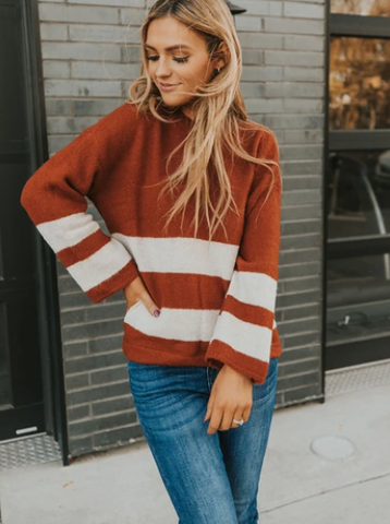 Pick your favorite lose sweater for this fall season. www.loveoliveco.com