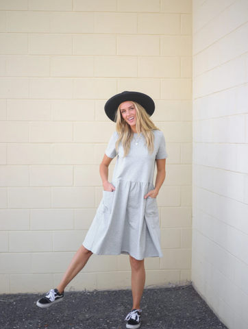 casual and cute dress with pockets. www.loveoliveco.com
