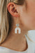 Arch Dangle Earrings-Ivory