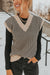 Cynthia Sweater Vest-Tan/Black