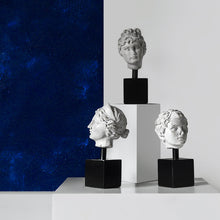 Load image into Gallery viewer, Resin Greek Head Statue with Metal Stand