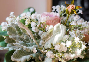 Pink Rose Baby's Breath Bouquet