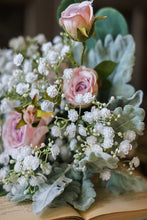 Load image into Gallery viewer, Pink Rose Baby's Breath Bouquet