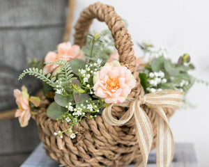 Flower Arrangement in Basket Centerpiece