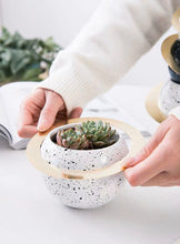 Load image into Gallery viewer, Ceramic Planet Planter