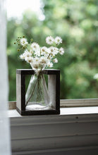 Load image into Gallery viewer, Vintage Crystal Glass Vase With Wooden Stand