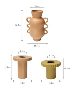 Ceramic Quirky / Screw Shape Vase