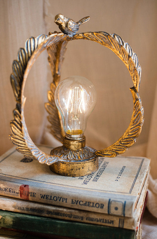 Metal Vintage Bird Lamp