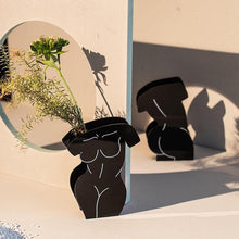 Load image into Gallery viewer, Acrylic Black Front/Back Body Vase