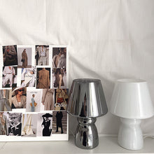 Load image into Gallery viewer, Glass White/Grey Mushroom Desk Lamp