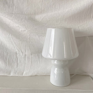 Glass White/Grey Mushroom Desk Lamp