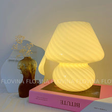 Load image into Gallery viewer, BIG Yellow Mushroom Shape Stripe Desk Lamp