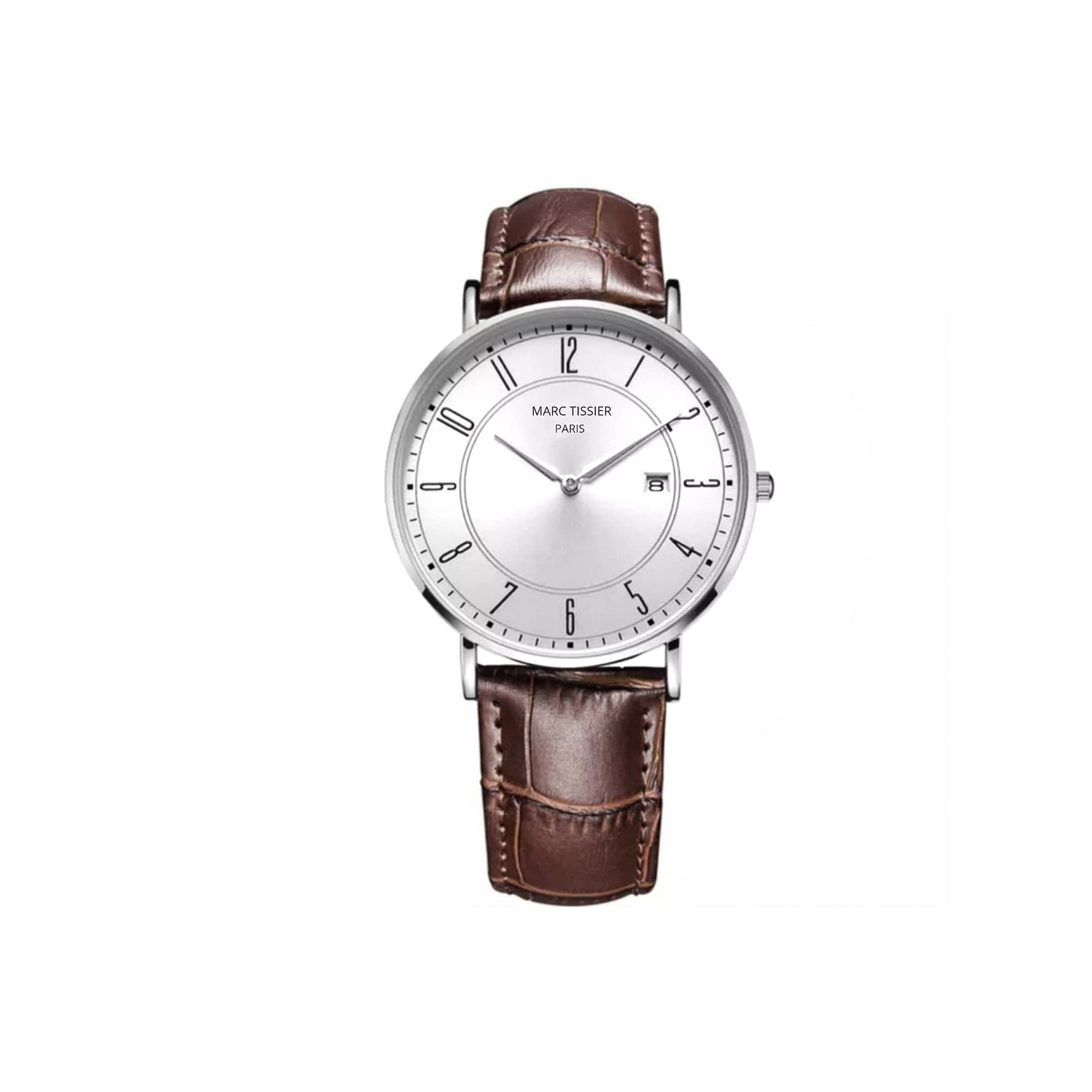 MARC TISSIER-  PLAISANCE - 39mm Blanc/Marron - look vintage