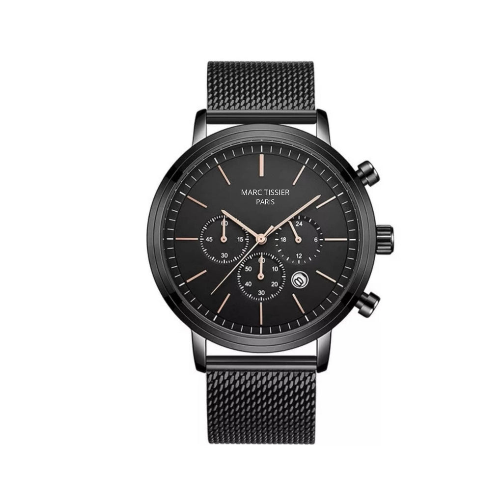 MARC TISSIER - AUGUSTE - 40mm, Noir montre homme fashion