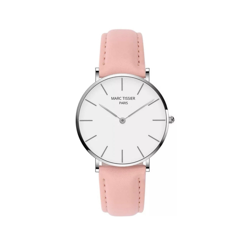 MARC TISSIER - VENDOME | 36mm blanc & rose minimalisme