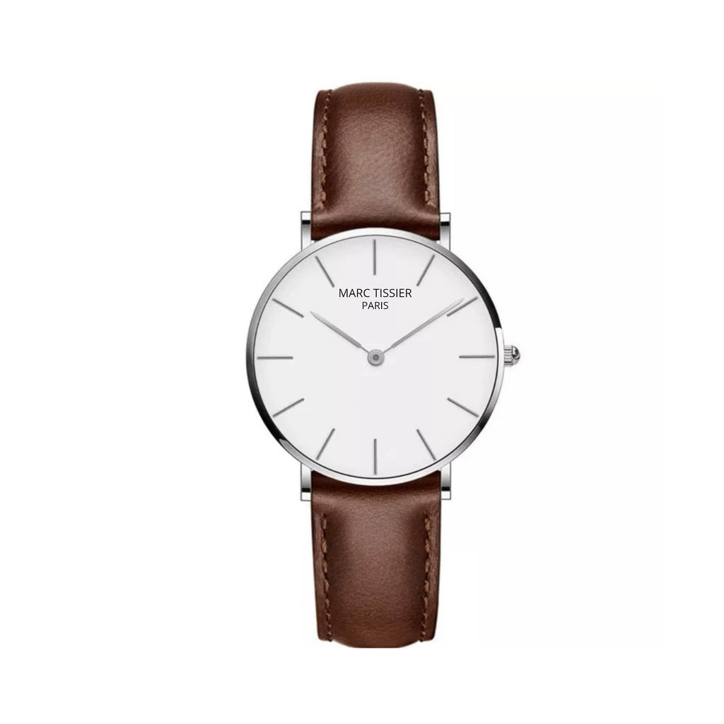 MARC TISSIER - VENDOME | 36mm marron minimalisme