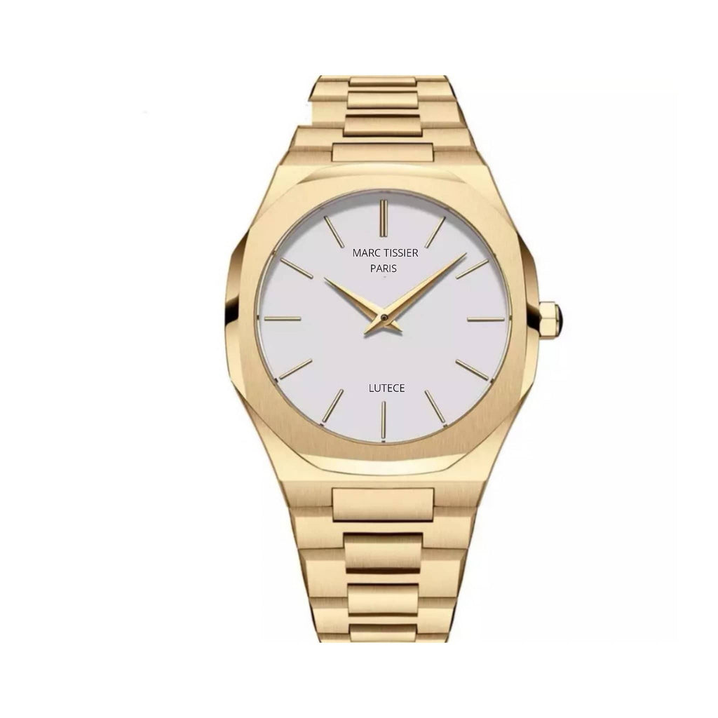 MARC TISSIER - LUTECE | blanc & or, 40mm fashion