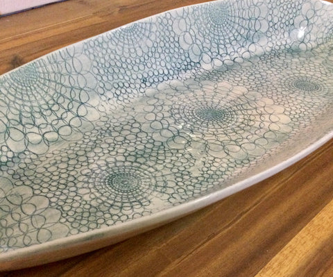 BAMBOO PLATTER Green- extra large