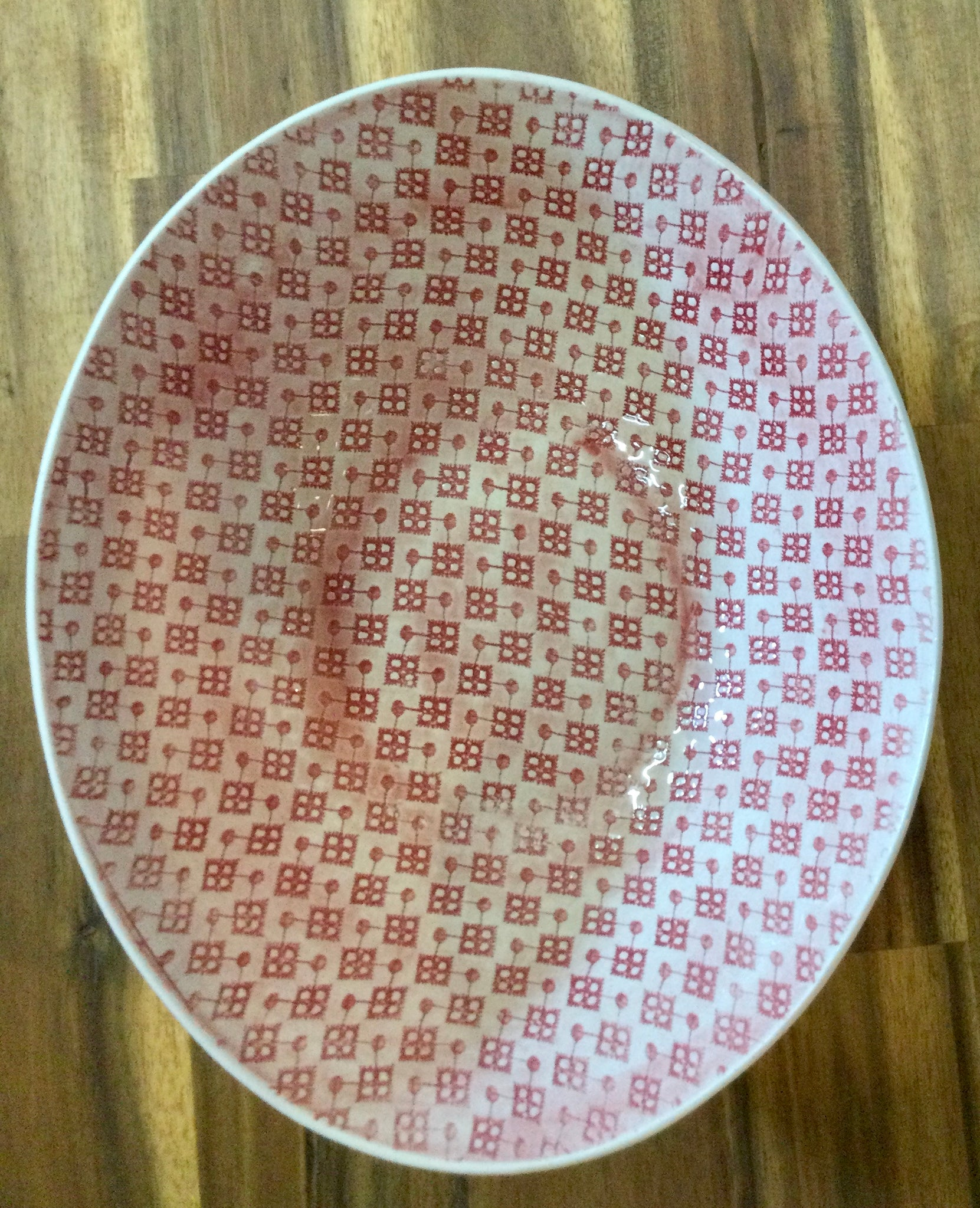 Pebble Salad Bowl Large - Red