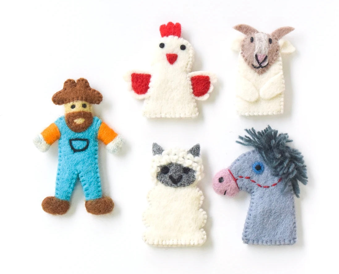 Old MacDonald Farm Animals B, Finger Puppet Set