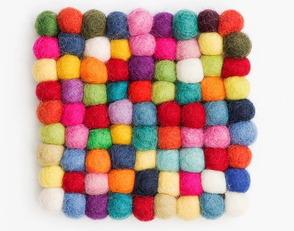 Cup Coasters - Square Colourful Bundle of 6