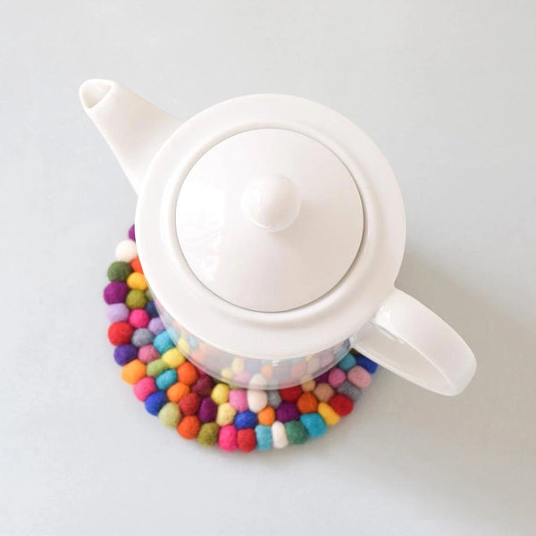 Teapot Trivet - Colourful 15cm