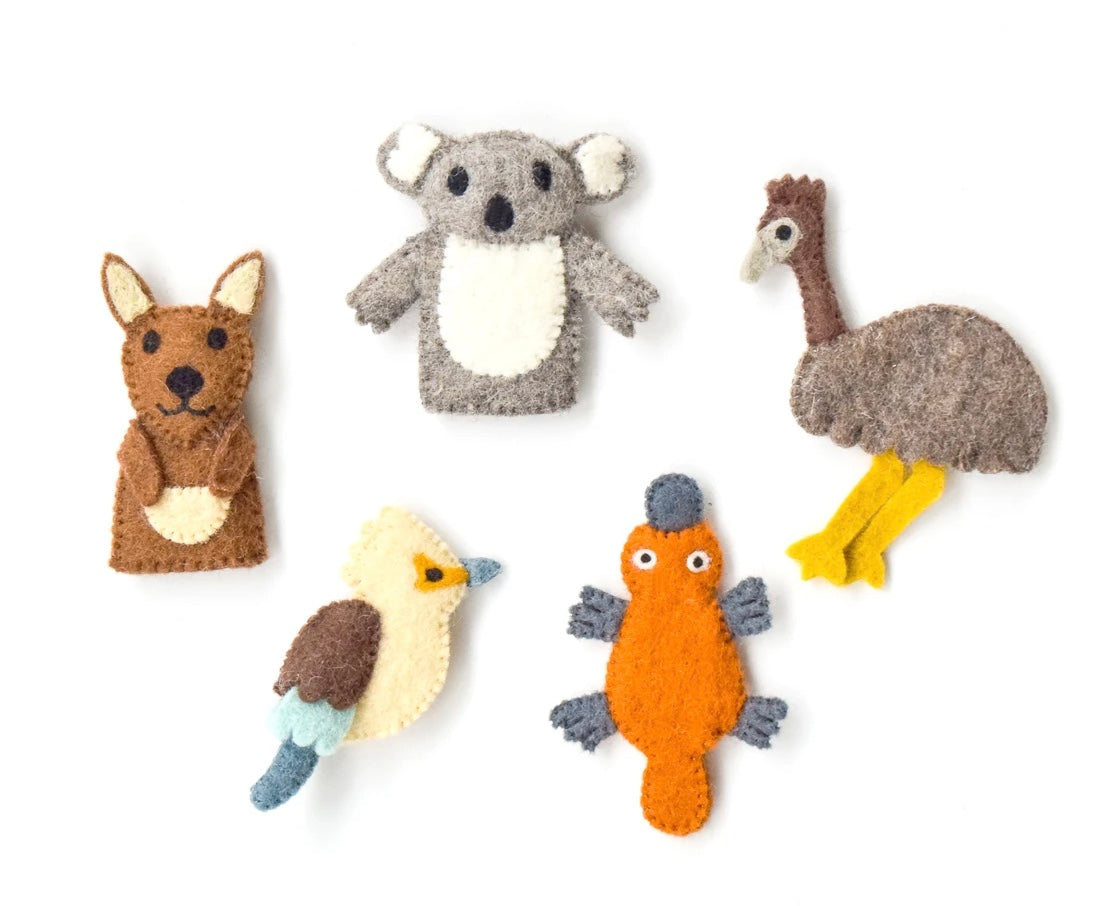 Australian Animals -  Finger Puppet Set (A)