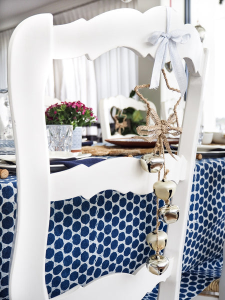 Indigo Dots Tablecloth (150x220cm)