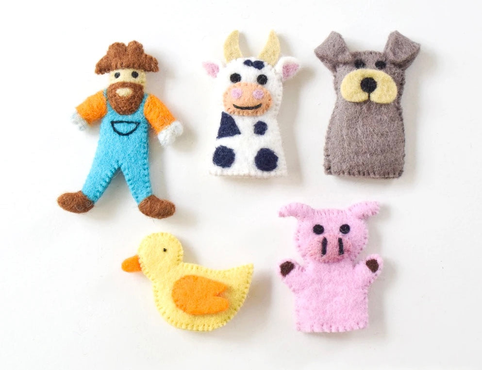 Old MacDonald Farm Animals A, Finger Puppet Set