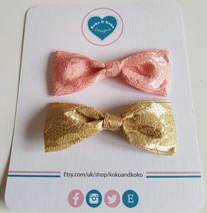A set of hair bows