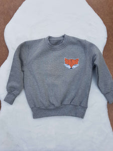 Fox applique sweater