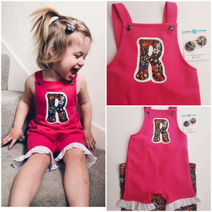 Short initial dungaree