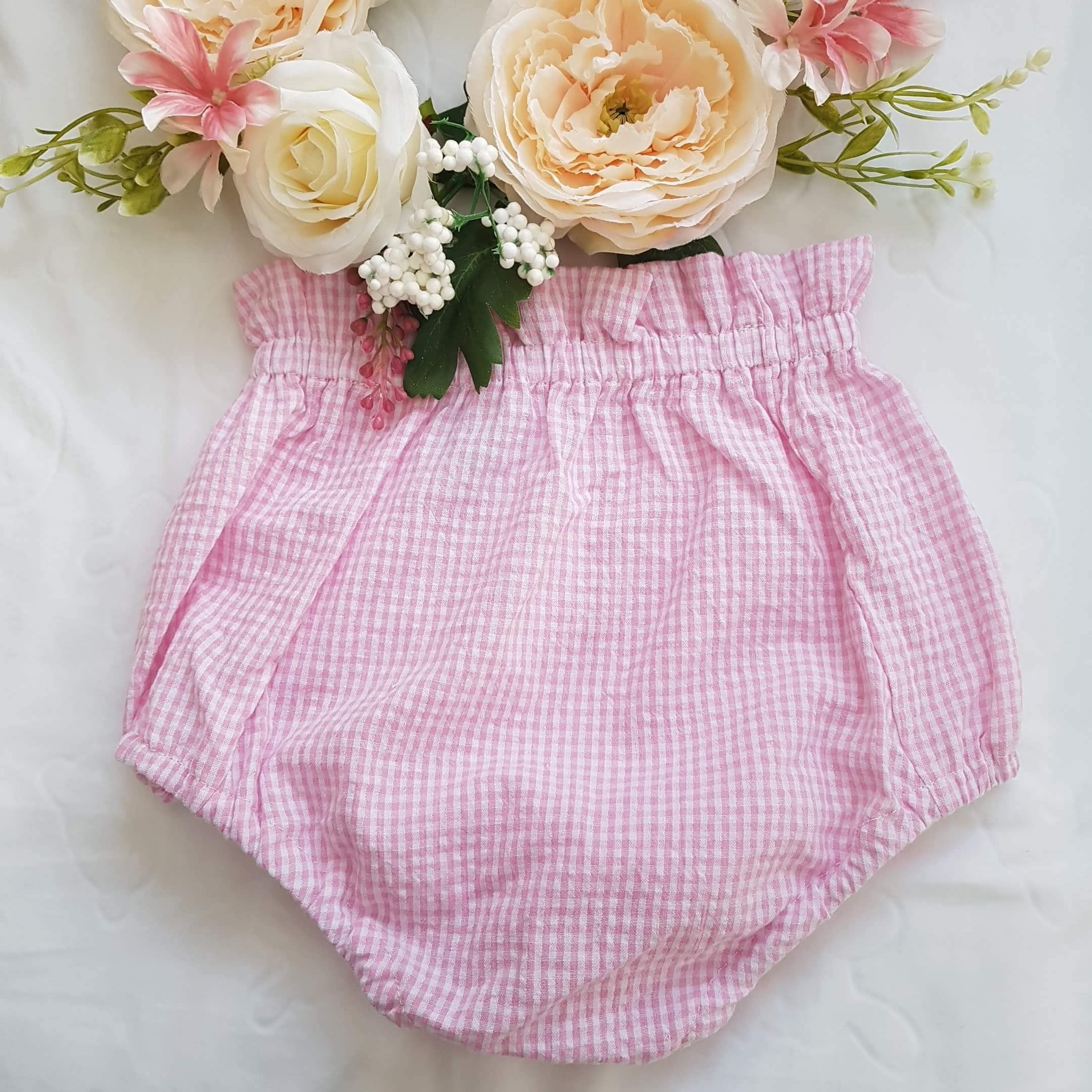 Gingham seersucker bloomers