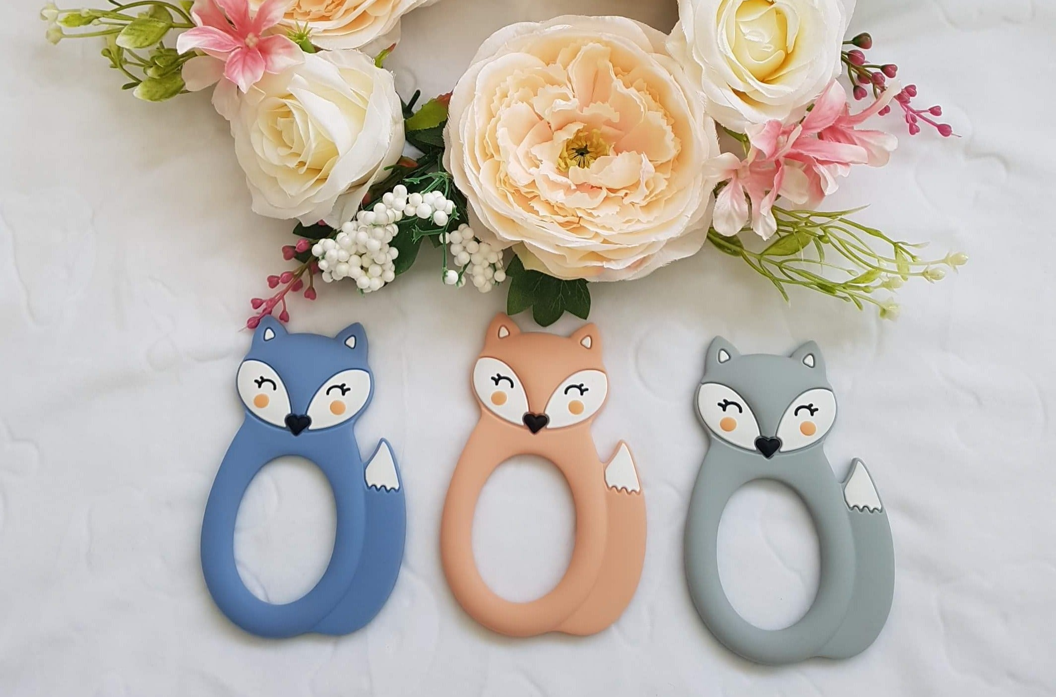 Silicone fox teethers