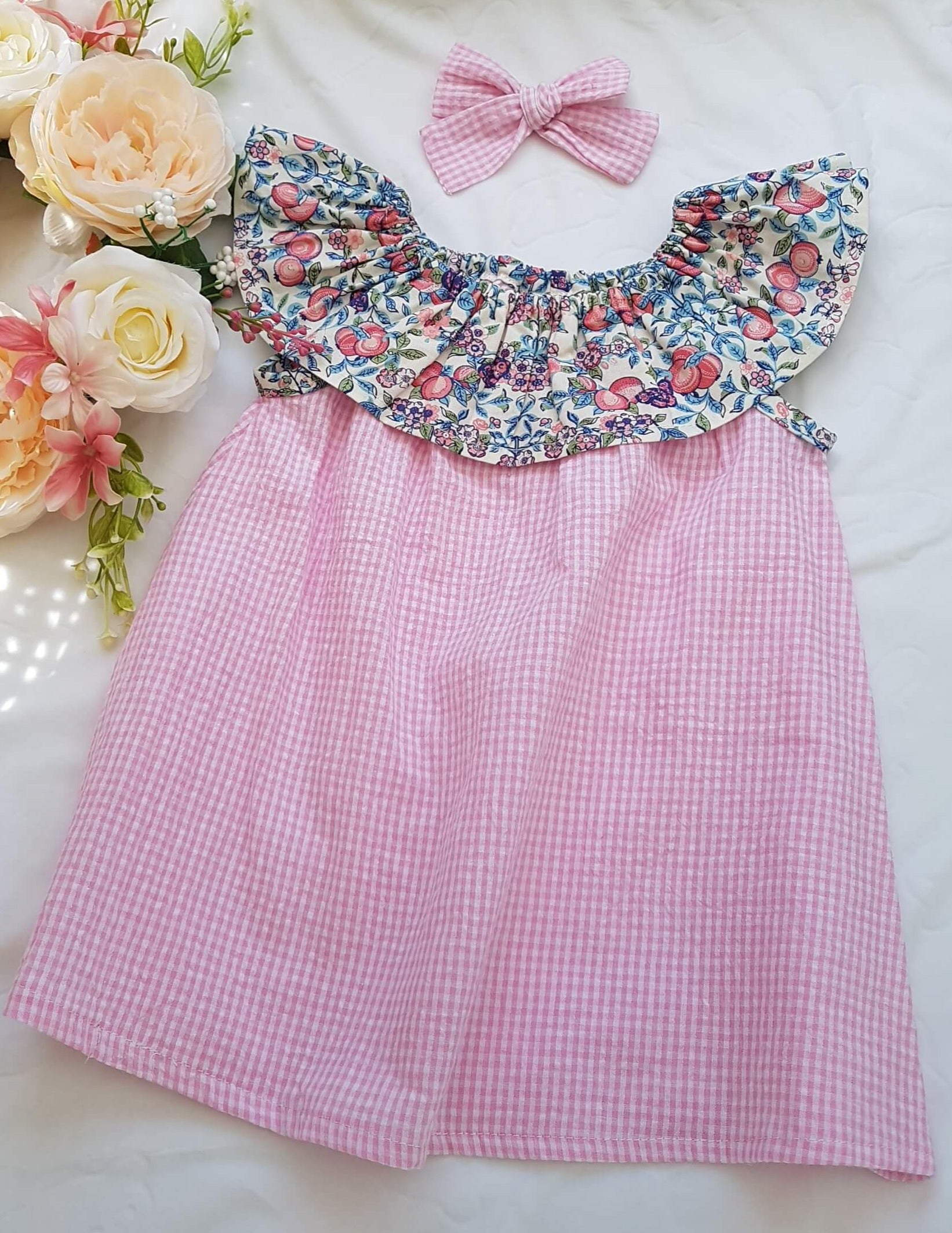 Ruffled collar summer dress