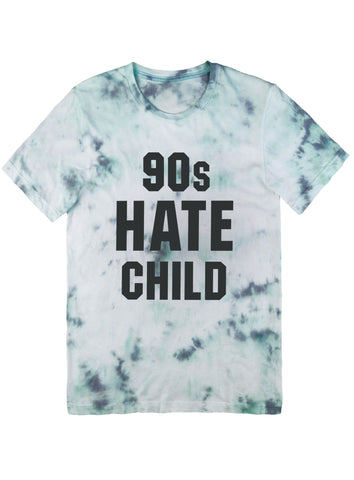 90s Hate Child Tee Black on Tie Dye