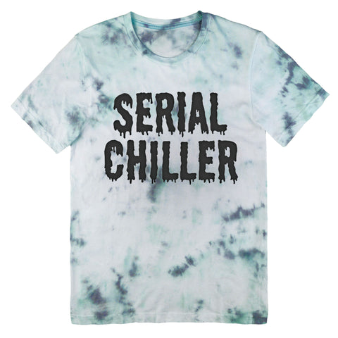 Serial Chiller Tee Black on Tie Dye