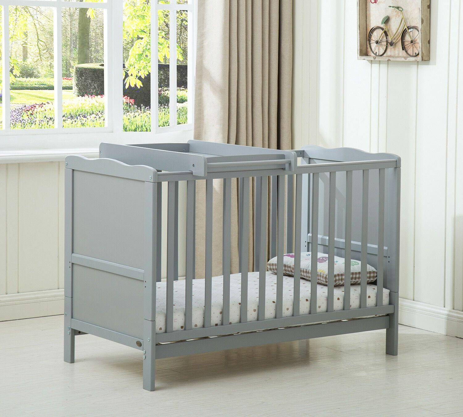 "Wooden Baby Cot ""Orlando"" Top Changer"
