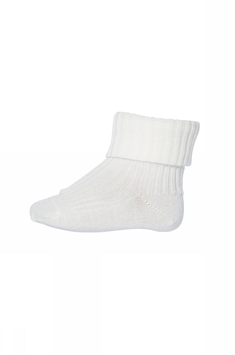 MP Denmark - Ankelsock Wool Baby - 589 hvid/creme