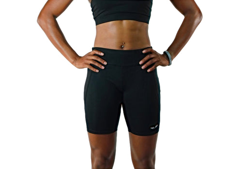 Womens Black Training Shorts-UltroSport