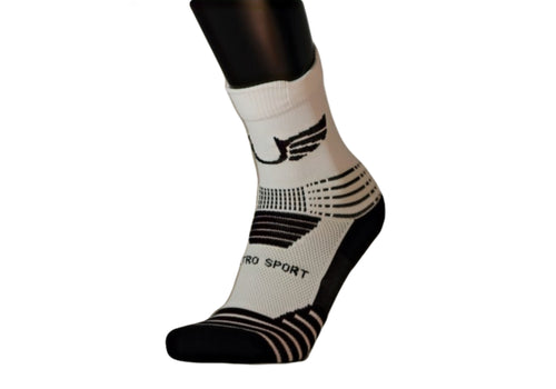 Ultro Padded Qtr/ Compression (White)-UltroSport