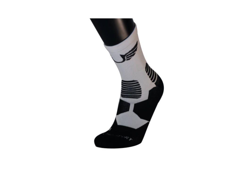 Ultro Padded Crew/ Compression (White)-UltroSport