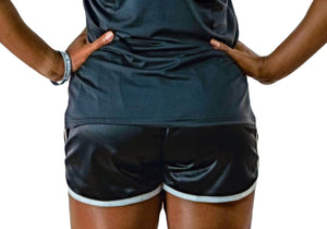 Womens Black Running Shorts-UltroSport