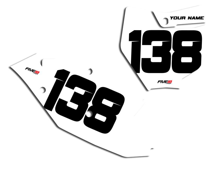 KTM 'Solid' Number Plate Backgrounds