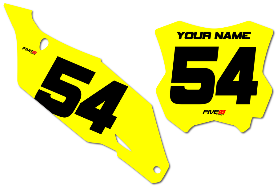 Kawasaki 'Solid' Number Plate Backgrounds