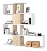 KIT LIBRERIA 'ZIG-ZAG' CM.145X145X29 BIA/CAN. - iBazar Shop