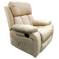 POLTRONA RECLINER 'MASSAGGIO' BEIGE HW62958 - iBazar Shop