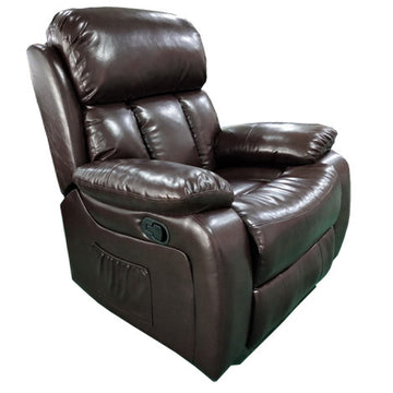 POLTRONA RECLINER 'MASSAGGIO' MARRONE