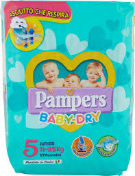Pampers BABY DRY Junior x17 - iBazar Shop