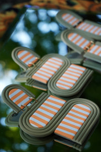 The Opus Earring in Cantaloupe Stripe